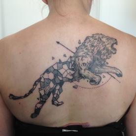 Tattoo D'après Kerby Rosanes. Dotwork. Par Raoul
