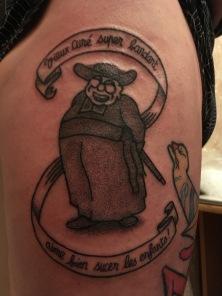 Tattoo D'après Jossot. Dotwork. Par Raoul