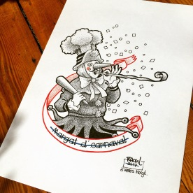 Flash Tattoo. Dotwork. D'après Hergé