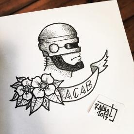 Flash Tattoo. Dotwork