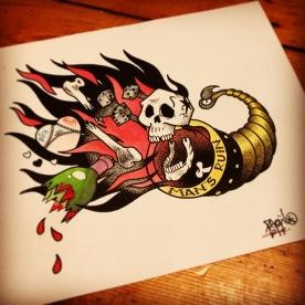 Flash Tattoo, Dotwork.