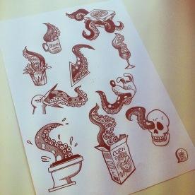 Flash Tattoo. Dotwork.
